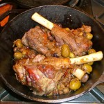 Lamb Shank with Olives