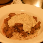 Lamb Stew with Creamy Eggplant Sauce